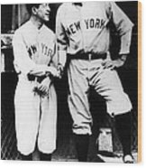 Miller Huggins, And Babe Ruth, Circa Wood Print by Everett
