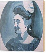 Millie In Blue Wood Print