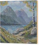 Mills Lake Wood Print
