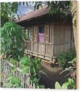 Minahasa Traditional Home 1 Wood Print