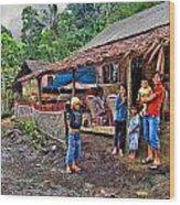 Minahasa Traditional Home 3 Wood Print