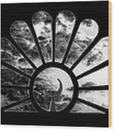 Minaret Through Glass Wood Print