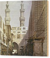 Minarets And Grand Entrance Of The Metwaleys At Cairo Wood Print