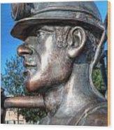 Miner Statue Wood Print