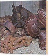 Mining Drill Bit Wood Print
