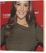 Minka Kelly At Arrivals For Esquire Wood Print by Everett