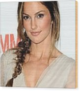 Minka Kelly At Arrivals For The Wood Print by Everett