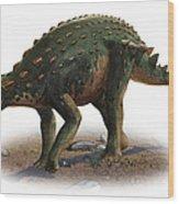 Minmi Paravertebra, A Prehistoric Era Wood Print
