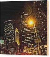 Minneapolis Night Lights Wood Print