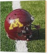 Minnesota Football Helmet Wood Print by Bill Krogmeier