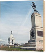 Minnesota Monument At Gettysburg Wood Print