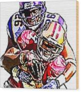 Minnesota Vikings Antoine Winfield  San Francisco 49ers Ted Ginn Jr  Wood Print by Jack K