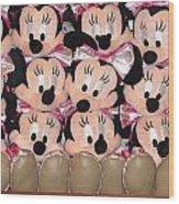 Minnie Mouse On A Shelf 2 Wood Print