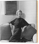Miriam Hopkins At Her Beverly Hills Wood Print by Everett