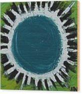 Mirror Mirror - Why So Blue Wood Print by Jean Kieffer