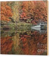 Mirror Pond Wood Print