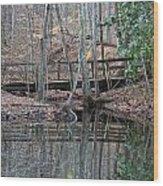 Mirrored Bridge Wood Print
