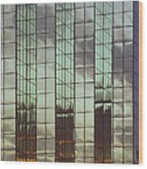 Mirrored Building Wood Print