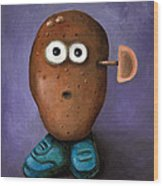 Misfit Potato Head 3 Wood Print