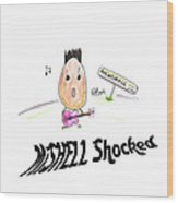 Mishell Shocked Wood Print