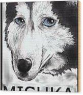 Mishka Fan Poster Wood Print