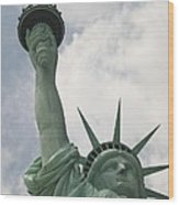 Miss Statue Of Liberty Wood Print