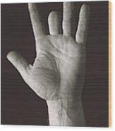 Missing Middle Finger Wood Print