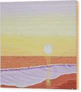 Mission Beach Wood Print