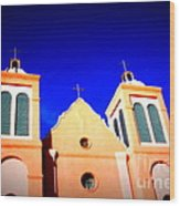 Mission Church Silver City Nm Wood Print