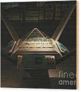 Mission Control Center Wood Print by Yali Shi