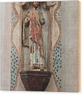 Mission San Xavier Del Bac - Interior Sculpture Wood Print by Suzanne Gaff