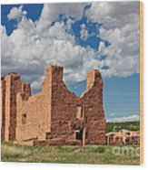 Mission To Quarai New Mexico Wood Print by Christine Till