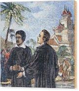 Missionaries: Baptism Wood Print