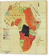 Missionary Map Of Africa Wood Print
