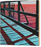 Mississippi  Pier - Ver. 10 Wood Print