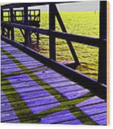 Mississippi  Pier - Ver.  3 Wood Print