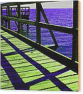 Mississippi  Pier - Ver. 7 Wood Print