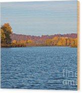 Mississippi River Fall Wood Print