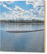 Mississippi River Panorama Wood Print