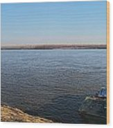 Mississippi River View Wood Print