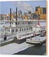 Mississippi Riverboat Wood Print