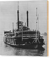 Mississippi Steamboat, 1926 Wood Print