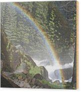 Mist Trail Rainbow Wood Print