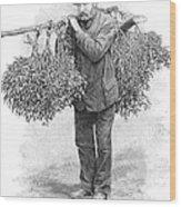 Mistletoe Gatherer, 1894 Wood Print