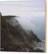 Mists Along The Kalalau Valley Wood Print