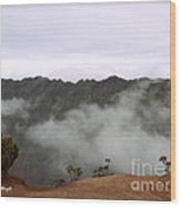 Mists From The Kalalau Valley Wood Print