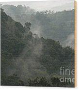 Misty Cloud Forest Matagalpa Nicaragua Wood Print