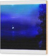 Misty Mangrove Moon Reflection Wood Print