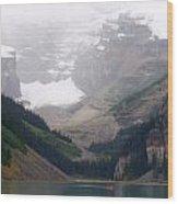Misty Paddle - Lake Louise, Alberta Wood Print