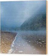 Misty River Wood Print